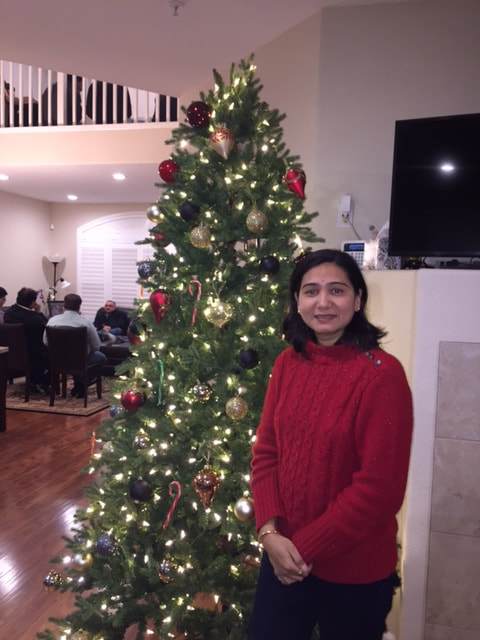 Science teacher Vaishali Patil at Bay Point celebrating New Years with her friends and family in December 2016.