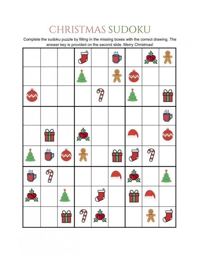 Christmas Sudoku.Christmas Sudoku