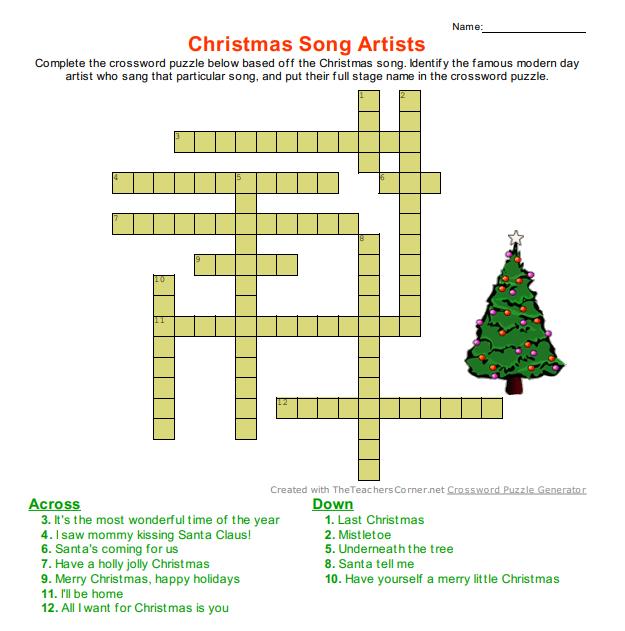 Christmas Crossword