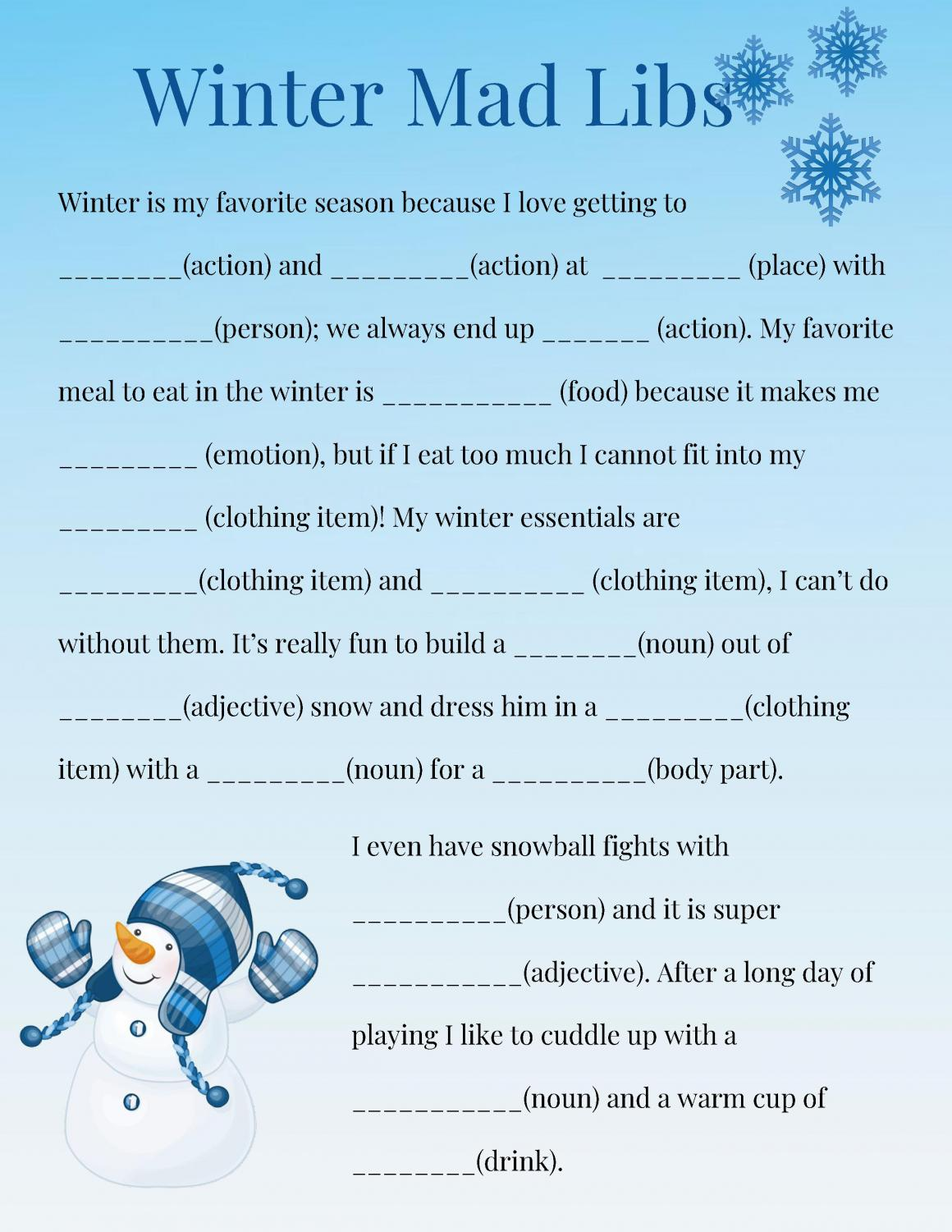 b5a64a6559 Winter Mad Lib