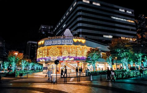 Vibrant decorations light the malls and trees in Ikebukuro, Tokyo, Japan during December. Photo courtesy of Jamie Mi.