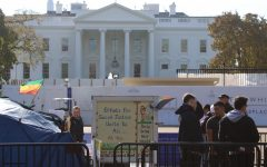 Activists surround the White House on Nov. 21.