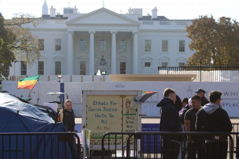 Activists surround the White House on Nov. 21.