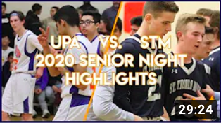 UPA vs STM Boys Varsity Basketball 2020 Senior Night | Live Broadcast Highlights